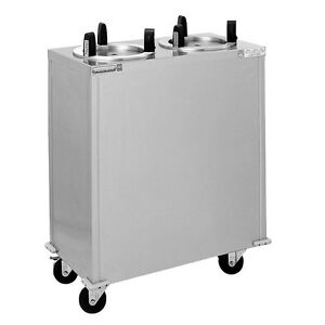 Delfield Cab2 913 Mobile Enclosed Two Stack Dish Dispenser
