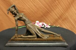 Handcrafted Bronze Sculpture Sale Dancer Girl Show Deco Art Hot Cast Figurine
