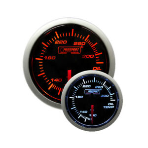 Prosport 52mm Electric Oil Temperature Gauge W Sender Amber White