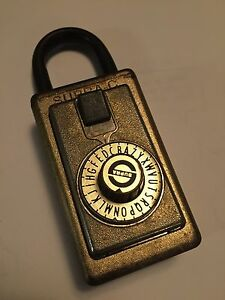 Vintage Supra C Realtor Lock Box Padlock With Combination