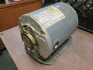 Marathon Belted Blower Motor 4uc56t34d5515b P 1 5hp 3600rpm 5 5 2 5a 3ph Used