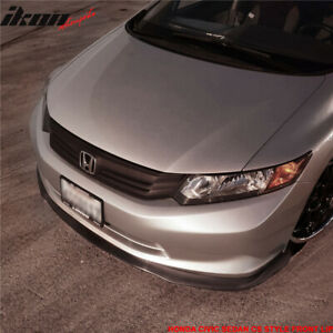 Fits 12 Only Honda Civic Sedan Cs2 Style Front Bumper Lip Splitter
