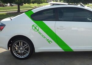 Scion Tc Decal Graphics Set Of 2 Racing Side Stripes With Scion Tc Logo