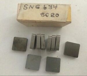 Southern California Sng 634 Sc 20 Lathe Mill Carbide Inserts 10 Pcs Made In Usa