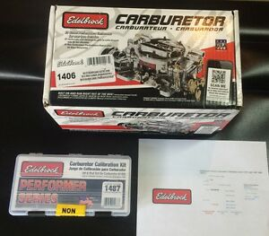 Edelbrock 1406 Performer 600 Cfm Electric Choke Carburetor And Tuning Bundle