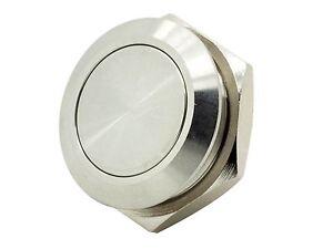Ms19pf 16mm Momentary Stainless Steel Push Button Switch Flat Top Short Depth