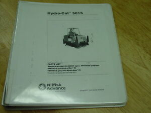 Advance Hydro cat Industrial Sweeper scrubber Model 5015 Parts List 2001 Oem