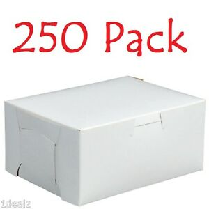 250 Bakery Cookie Pastry Box 6 X 4 1 2 X 2 3 4 White Made In Usa Bundle Pack