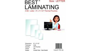 5 Mil Clear Letter 300pk Thermal Laminating Pouches 9 X 11 5 Scotch Quality