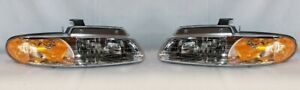 For 2000 Chrysler Town Country Headlights Head Lamps Driver Passenger Lh Rh