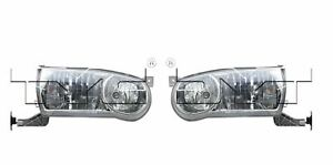 For 2001 2002 Toyota Corolla Headlights Head Lamps Driver Passenger Lh rh
