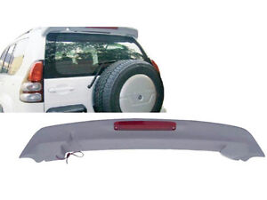 With Led Unpainted Wing Spoiler For Toyota Prado Fj120 J120 2003 2009