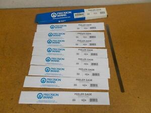 Precision Brand 19235 004 Thickness Feeler Gage 1 2 X 12 Blades New Lot Of 8