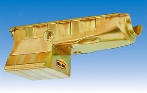 Milodon Engine Oil Pan 30950 Street Strip Low Profile 7qt Gold Iridited For Bbc