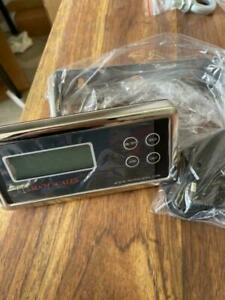 Scale Indicator Lcd Optima Op 902 Readout Ac Adapter 110 240v units Lb kg oz new