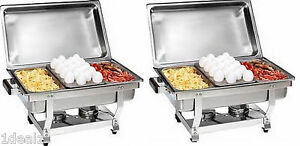 1 3 Size Chafer Pan 6 Pack Catering Hotel Chafing Dish One Third Size Pans