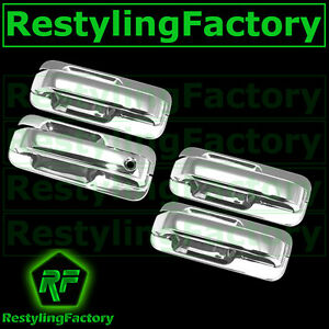 15 17 Ford F150 Triple Chrome 4 Door Handle W O Smart Key Back Plate Lever Cover