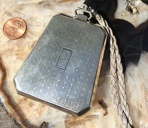 Vintage Sterling Silver Ladies Dance Coin Purse With Compact 1453