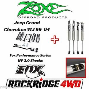 Zone Offroad 4 Jeep Grand Cherokee Wj 99 04 Suspension Lift W Fox Performance