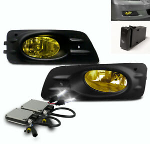 2006 2007 Honda Accord Ex Lx Sedan Bumper Driving Fog Lights Yellow 6k Xenon Hid
