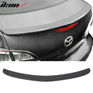 Fits 10 13 Mazda 3 Mazda3 Sedan Flush Mount Oe Factory Matte Black Trunk Spoiler