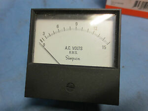 Simpson 17727 Analog Panel Meter 2153md New In Box 0 15 Acv 3 5 Ul Cent