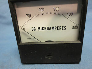 Simpson 17501 Analog Panel Meter Dc Current 0 a To 500 a New In Box
