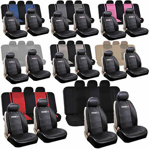 Synthetic Leather Case Ih Sideless Split Bench Seat Covers Universal Car Truck