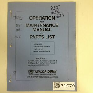 Taylor Dunn Manual Ms 536 00 Used 71079