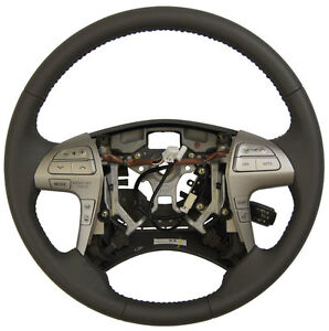 2007 2011 Toyota Camry Steering Wheel Md Grey Leather New Complete 4510006e60b0