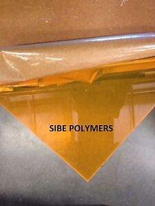 Orange Fluorescent Acrylic Plexiglass 1 8 X 12 X 12 Plastic Sheet
