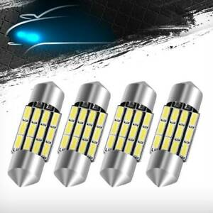 4pcs Xenon White High Power 31mm 1 22 12smd Festoon Led Light De3175 3022 3021