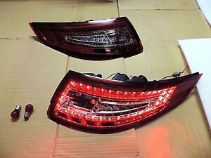 05 08 New Carrera 911 997 Pre Facelift Led Tail Rear Light Red Clear For Porsche