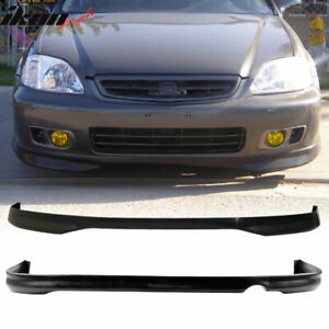 Fits 96 98 Honda Civic Sedan Coupe Tr Style Front Rear Bumper Lip Spoiler Pp