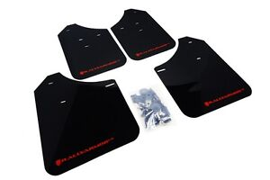 Rally Armor Mud Flaps Guards For 02 07 Rs Wrx Sti Sedan Black W Red Logo