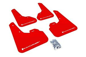Rally Armor Mud Flaps Guards For 10 13 Mazda3 Mazdaspeed 3 Red W White Logo