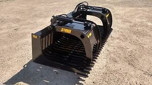 New 60 Skeleton Rock Bucket With Grapple Open Sides Design Skid Steer Tractor