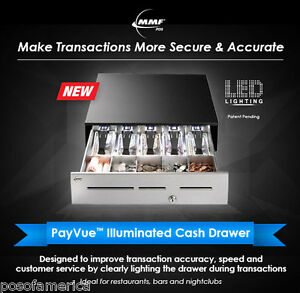 Mmf Payvue Illuminated Restaurant Point Of Sale pos cash Drawer 18 X 16 New