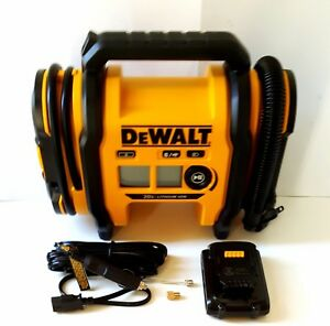 Dewalt 20v Max Hybrid Corded Cordless Air Inflator W Battery Adapters Sealed
