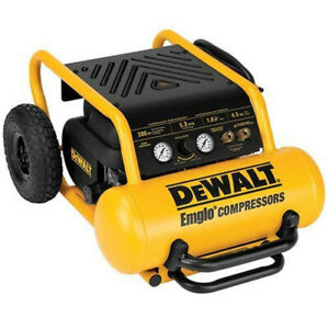 Dewalt 4 5 Gallon Wheeled Portable Air Compressor D55146 Reconditioned