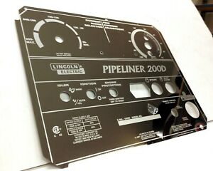 Lincoln Pipeliner 200d Welder Mirrored Stainless Steel Faceplate l11952 Bw614