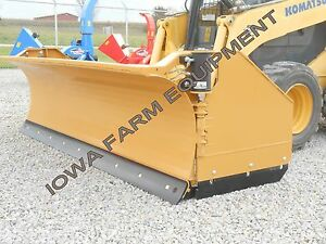 Horst 3200 Skidsteer Qa Snow Wing snow Pusher 8 closed 13 open Steel Trip Edge