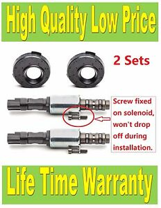 8l3z6m280a Set Of 2 Engine Variable Timing Solenoid Vct Solenoid W Seal