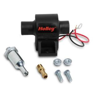 Holley Electric Fuel Pump 12 428 Mighty Mite 34 Gph 7psi Black Steel All Fuels