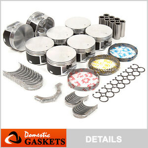 99 07 Dodge Ram Chrysler Jeep 4 7l Pistons Engine Bearings rings Set Vin N J P