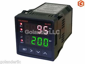 Dual Display Digital Pid F c Temperature Controller With 2 Alarm Relays 1 16 Din