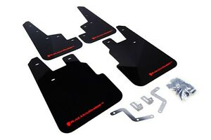 Rally Armor Mud Flaps Guards For 14 18 Subaru Forester black W red Logo