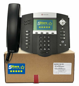 Polycom Ip 550 Voip Sip Phone Telephone Poe 2200 12550 025
