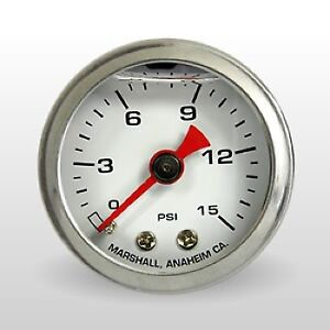 Marshall Fuel Pressure Gauge Cw00015 0 To 15 Psi 1 1 2 Full Sweep Mechanical