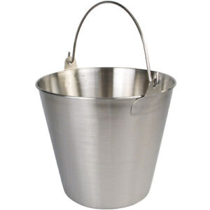 Winware By Winco Up 13 Utility Pail 13 Qt Stainless Steel